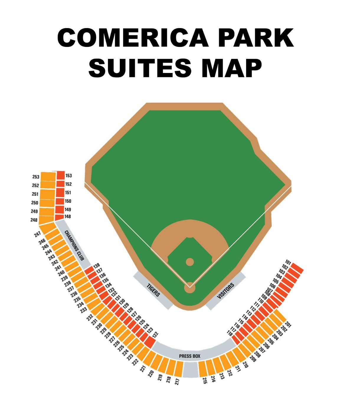 Comerica Park Sitzgelegenheiten Anzeigen Comerica Park Anzeigen