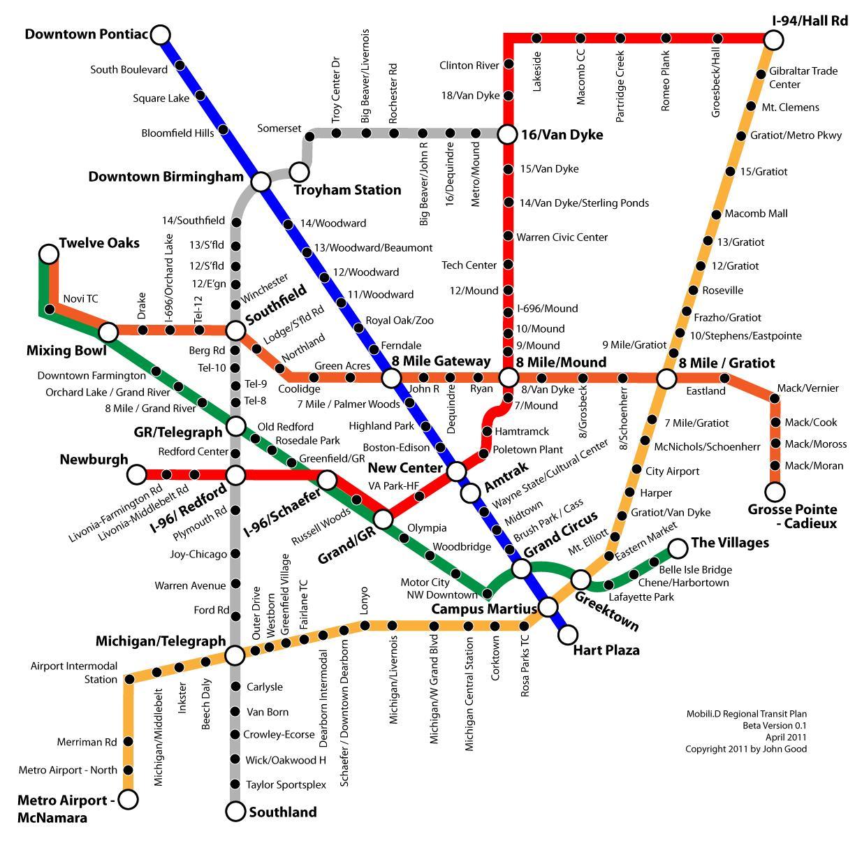 Detroit Usa Map on