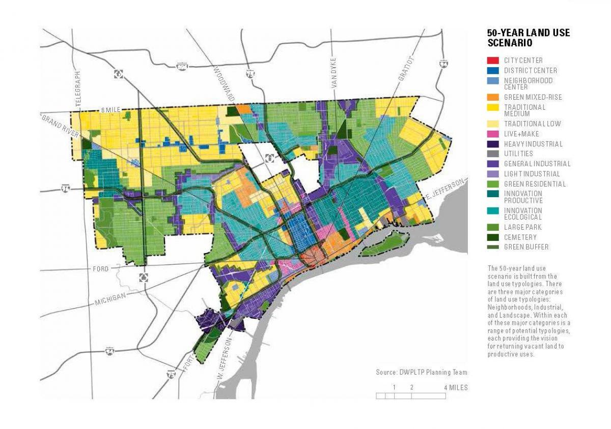 Detroit Zoning Map on