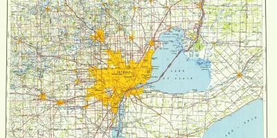Detroit Map Karten Detroit Michigan Usa