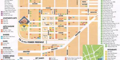 Detroit-map - Karten Detroit (Michigan - USA) on